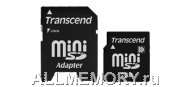 Карта памяти 1GB miniSD, Secure Digital Card, 30X, Transcend