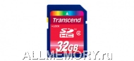 Карта памяти 4GB Secure Digital Card, High Capacity (SDHC) Class 2, Transcend