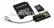 Карта памяти 16 GB microSD/TransFlash, Class 10 + microSD to SD adapter, Kingston