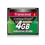 Карта памяти 4GB Industrial CompactFlash Card 200X, Transcend