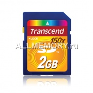 Карта памяти 2GB Secure Digital Card 150X, Transcend